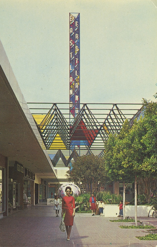 Eastland Shopping Center by A.C. Martin and Associates, about 1957. Photo by David M. Mills. Chris Nichols Collection.