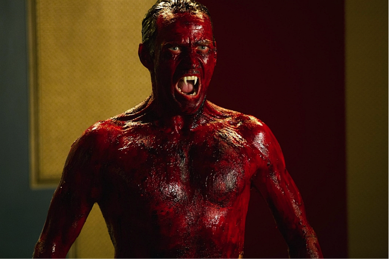 Caked blood