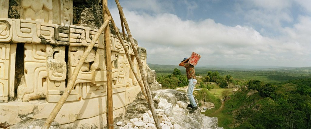 Xunantunich, Belize; archaeological work on El Castillo, Maya site