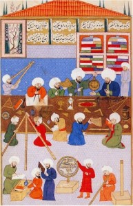 Work in the observatorium of Taqi ad-Din