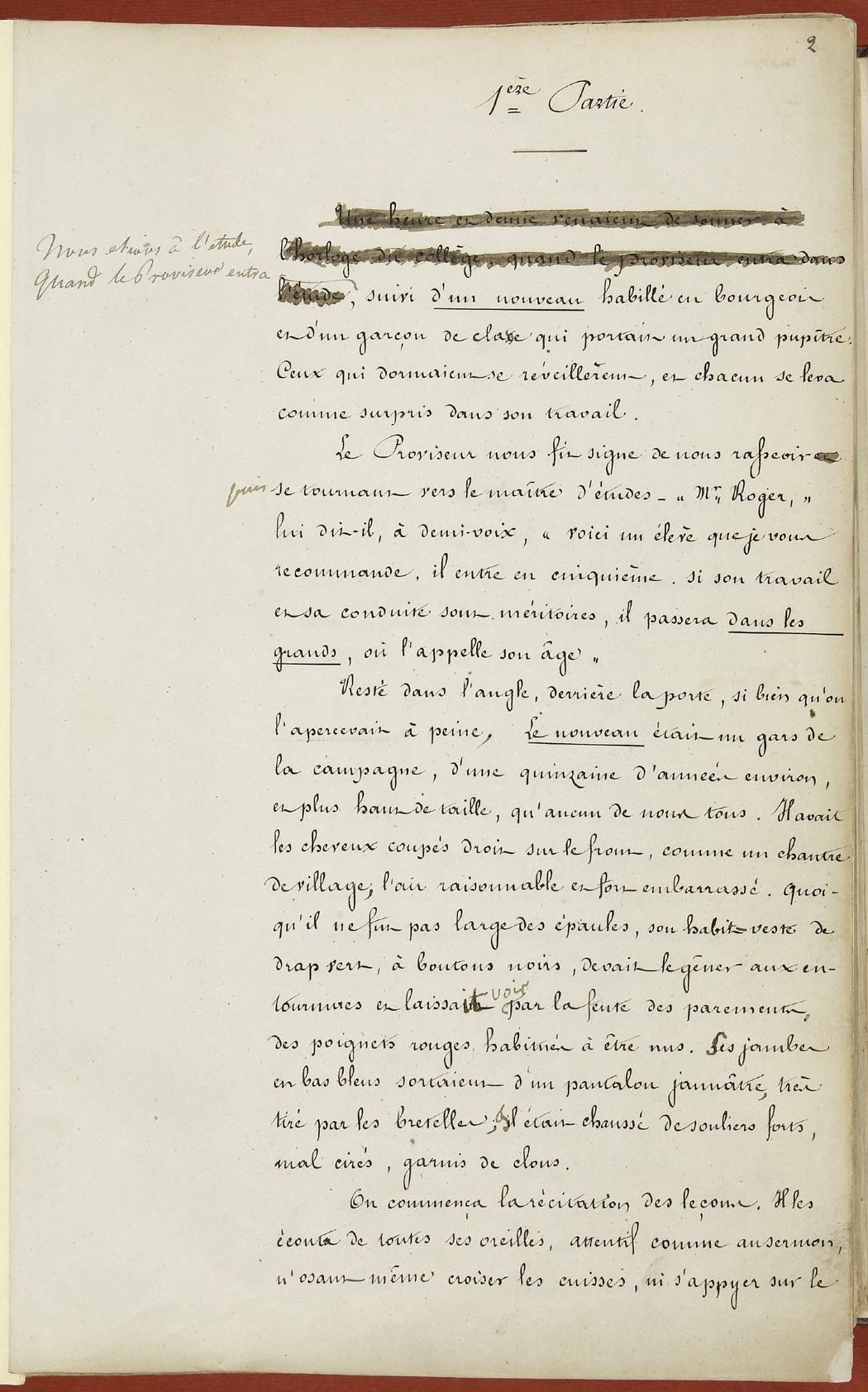 reading madame bovary in the provinces los angeles review of books final typescript of madame bovary flaubert s handwriting in the margin centre flaubert universitatildecopy de rouen